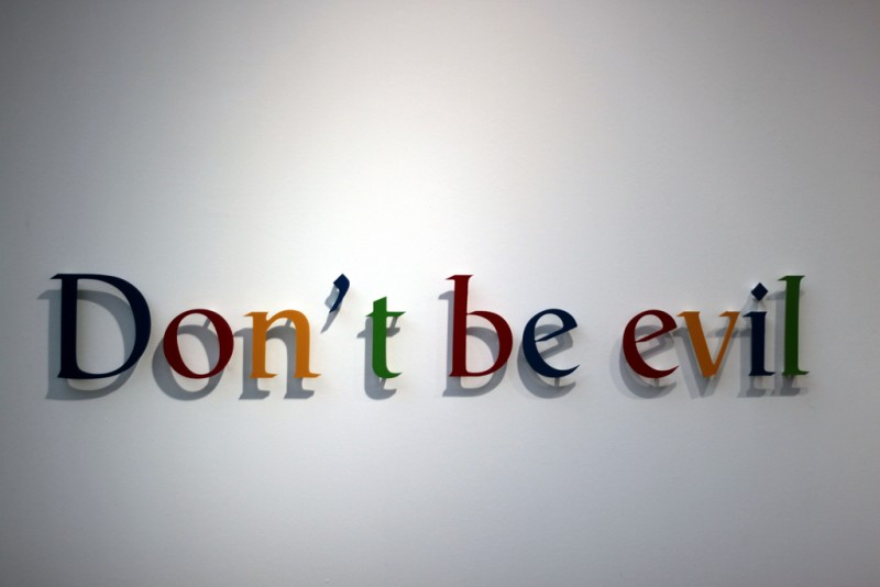 Don't be evil motto of Google