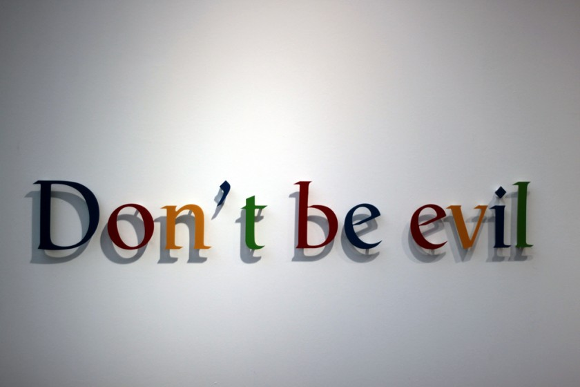 Google, 'Do the right thing' replaces 'Don't be evil'