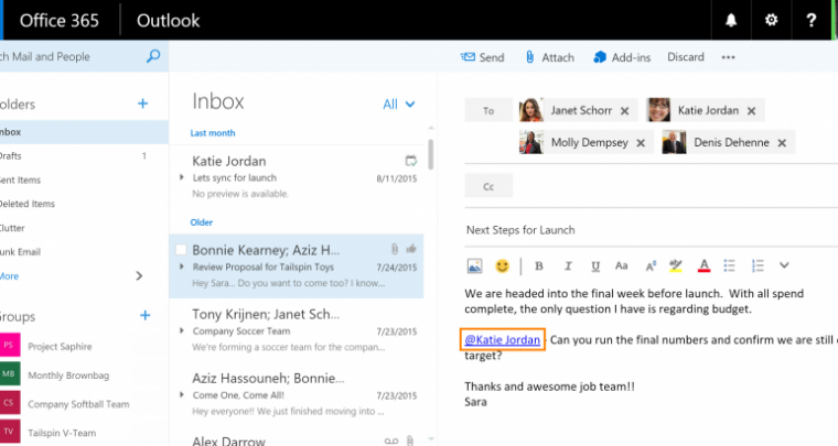 Microsoft Brings MENTIONS & LIKES on Outlook!