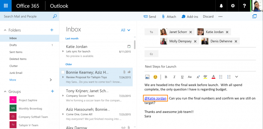Microsoft Brings MENTIONS & LIKES on Outlook