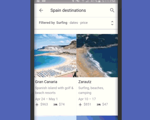 Planning A Vacation? Google Destinations Helps You Book a Holiday on Your Phone