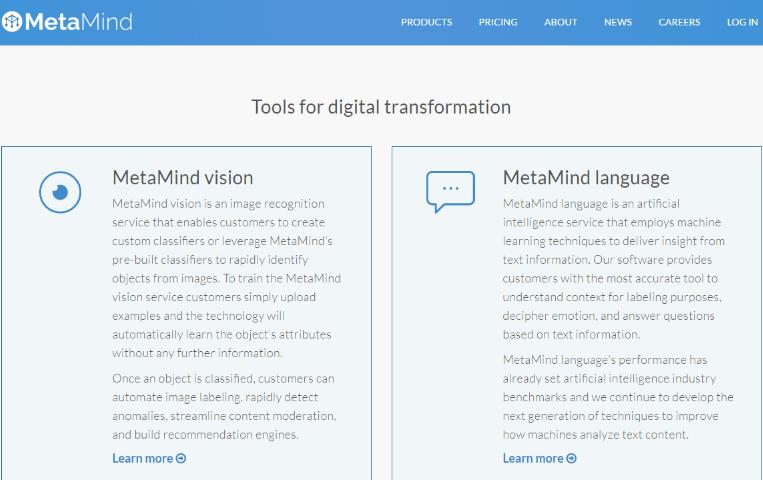 MetaMind Tools (Deep-learning startup MetaMind)