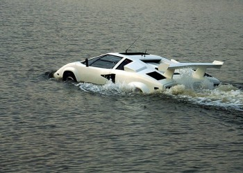 Ahoy! Here comes the Amphibious Lamborghini Countach from eBay!
