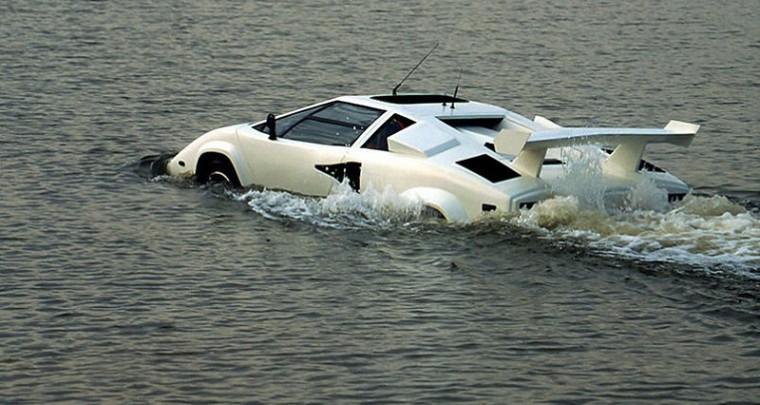 Ahoy! Here comes the Amphibious Lamborghini Countach from eBay!