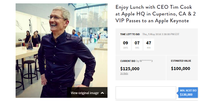 lunch with tim cook