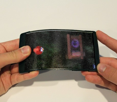 HoloFlex: Holographic Flexible Android Smartphone with F-OLED Screen