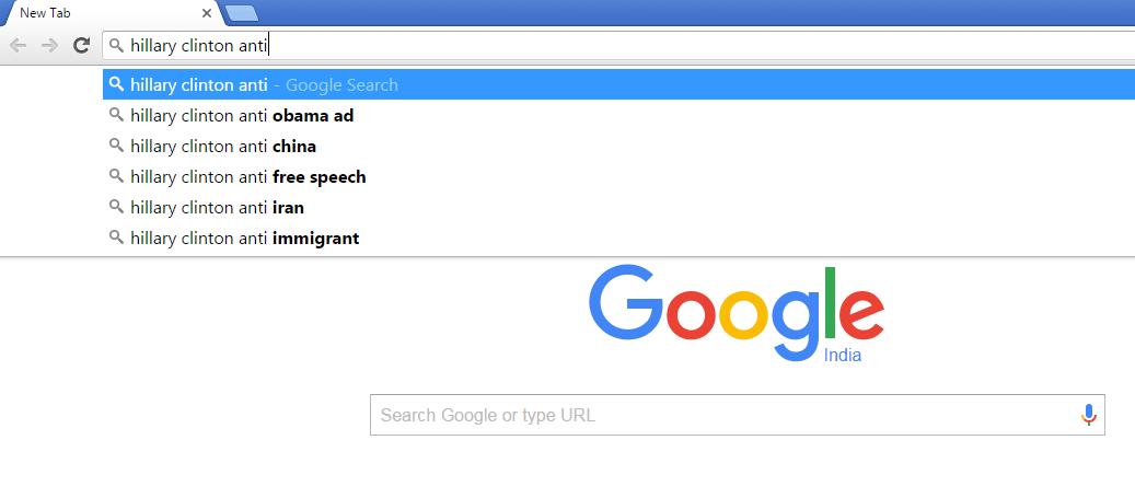 Google Hillary