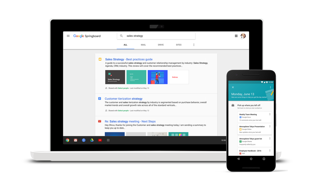 Google Launches Springboard App and Revamped Google Sites