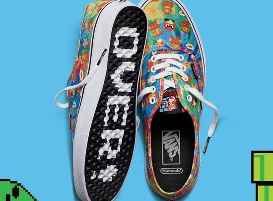 Vans Off The Wall: The Nintendo Line Of Shoes And Clothing
