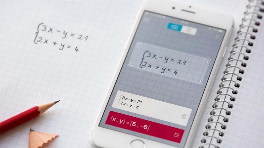Solve Math Problems by Scanning Notebook with PhotoMath Math Scanner