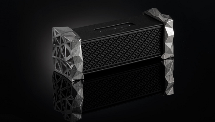 V-Moda Remix Bluetooth speaker sports an integrated headphone amp and customizable carves