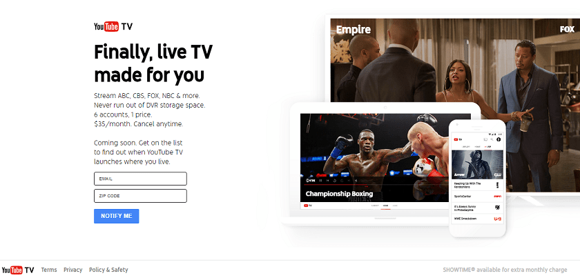 YouTube's Official Live TV Service – YouTube TV - Technowize