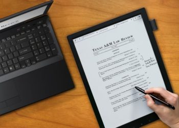 Make Notes while Reading your E-book with the Sony E Ink Tablet