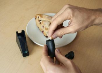 The pocket-size Nima sensor is a perfect guard; tests your food before you consume