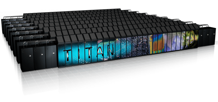 render of titan exascale supercomputer