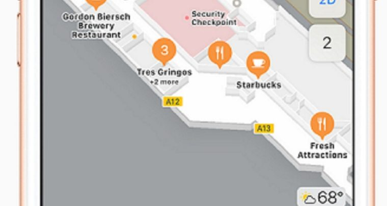 Apple Maps out over 30 Airports