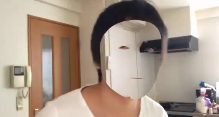 A Japanese Developer used iPhone X's face-tracking to make his face invisible