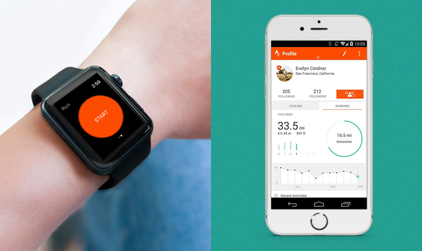 Strava android wear apps