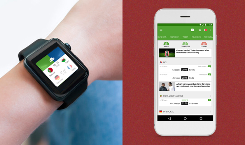 BeSoccer top android wear apps