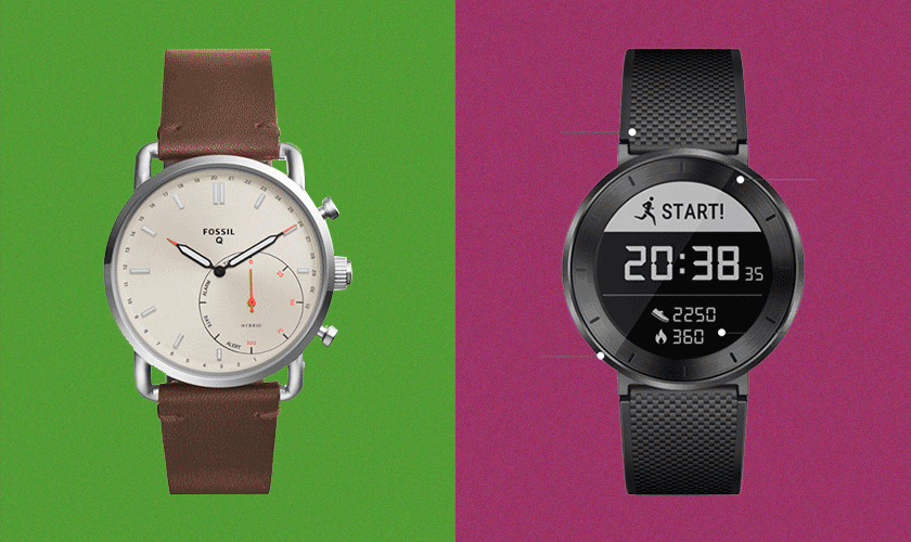 Image: (Left) Fossil Hybrid – $116; (Right) Huawei Fit Smart Fitness Watch - $129.99