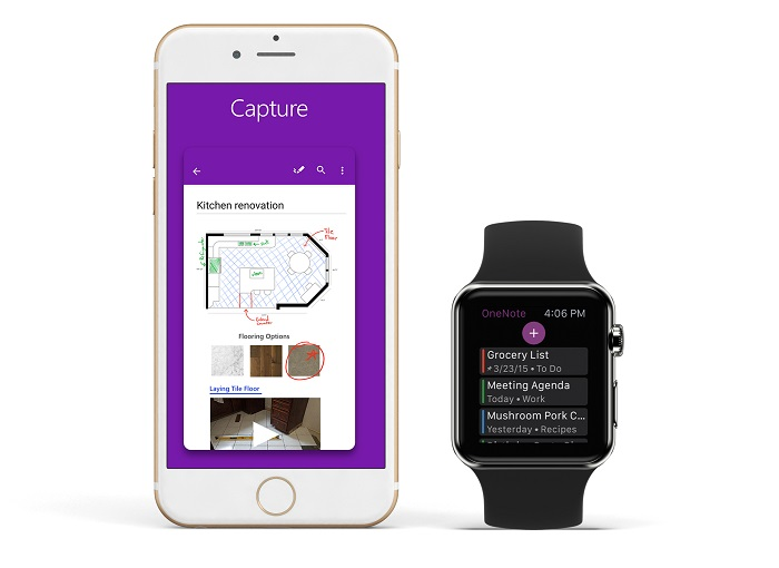 iWatch apps 2018 OneNote