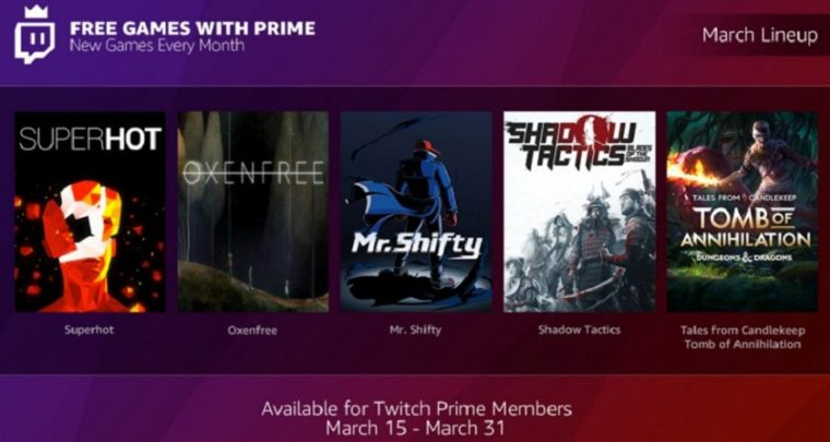 Like Shadow Tactics? Twitch Prime is giving away for free!