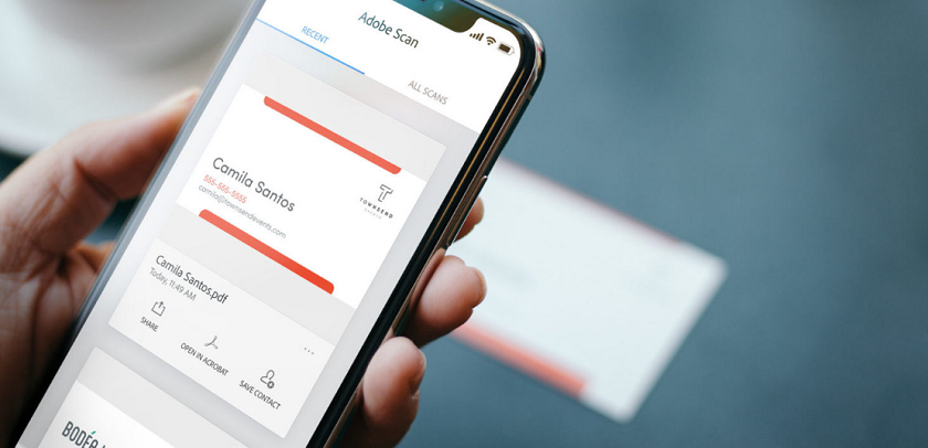 Convert business card into phone contact directly with adobe scan adobe scan can now scan business cards and turn them into mobile contacts on ios and android source adobe colourmoves