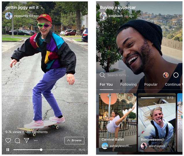 IGTV Instagram standalone app