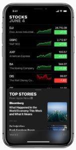 iOS 12_Apple-Stocks WWDC 2018