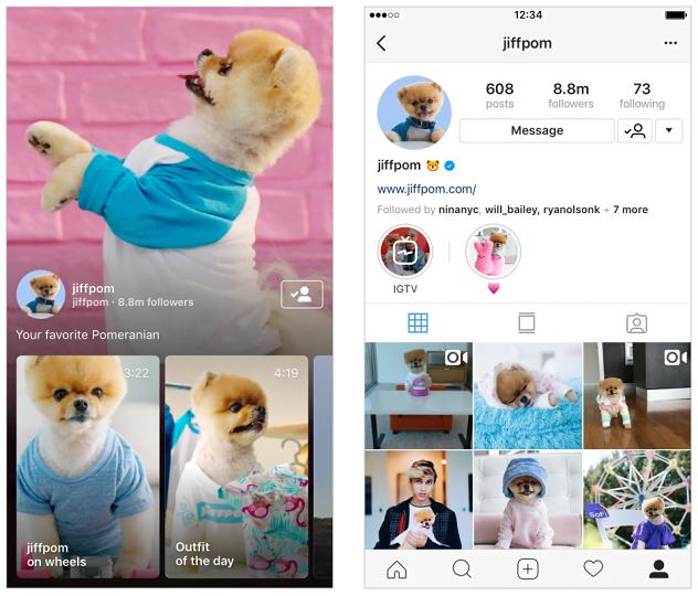 new IGTV Instagram standlone app