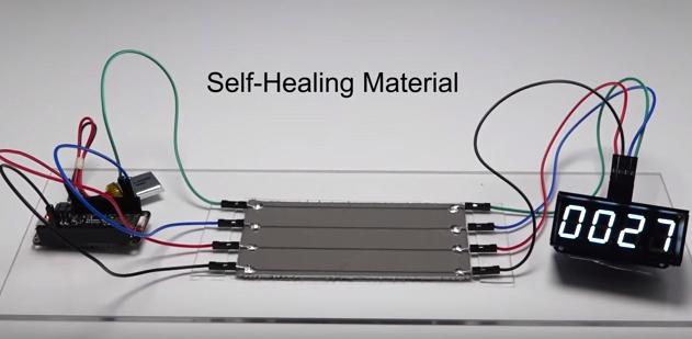 self healing robot skin material