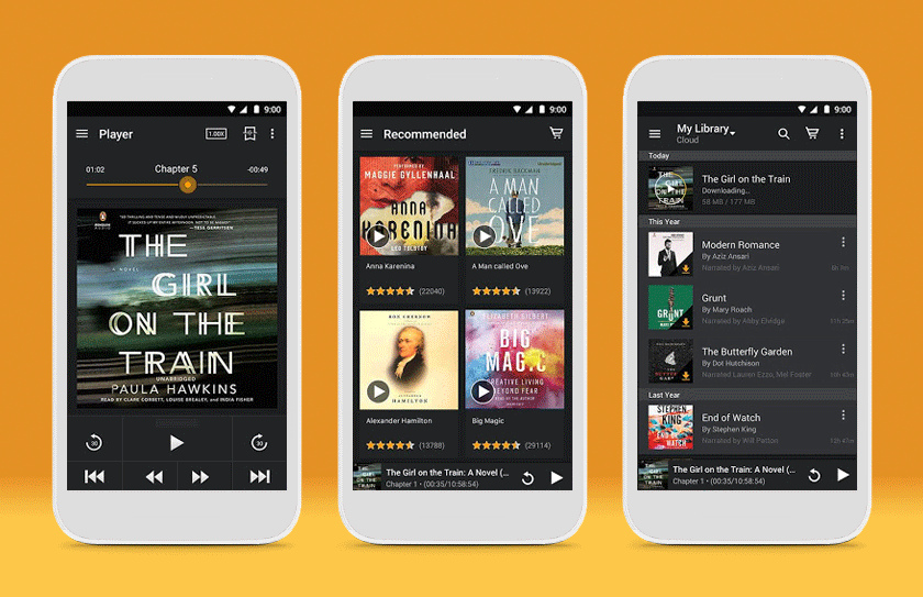 Audible keep track of books