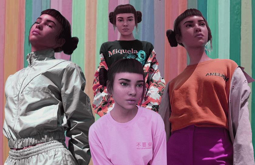 digital instagram model lil