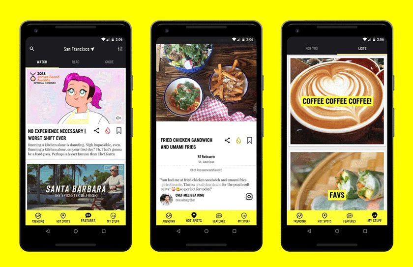 Best travel app ChefsFeed