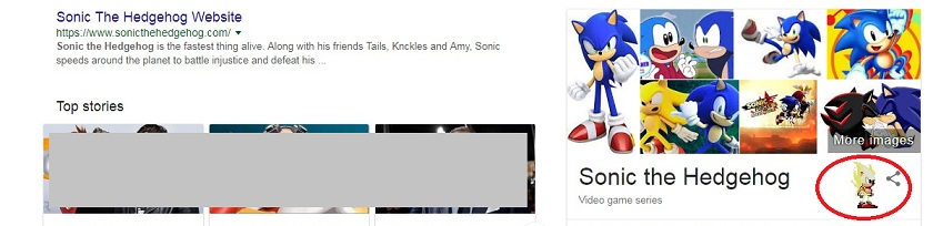 Sonic the Hedgehog Google tricks