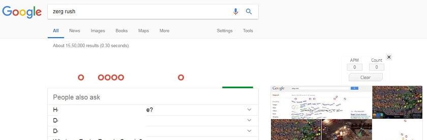 Top Google trick Zerg Rush