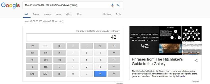 Top Google tricks Universe
