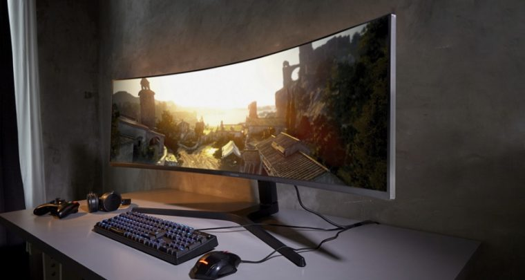 Samsung's Space Monitor clamps to your desk to free up space