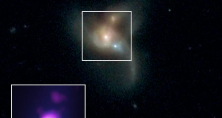 Three Supermassive Black Holes are on Collision Course