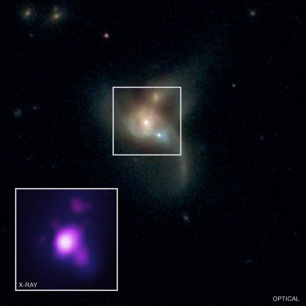 three super massive black holes
