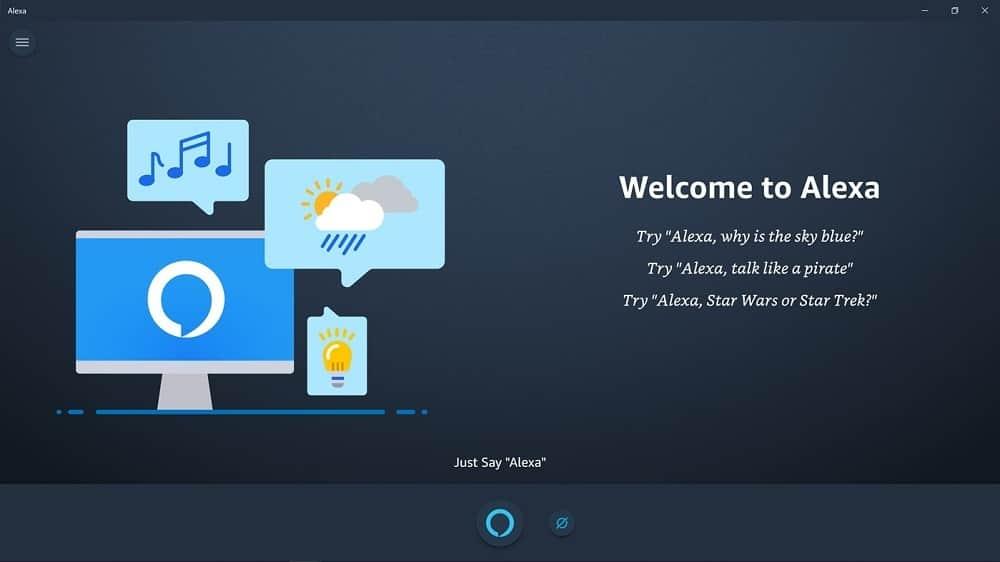 Alexa app for PC