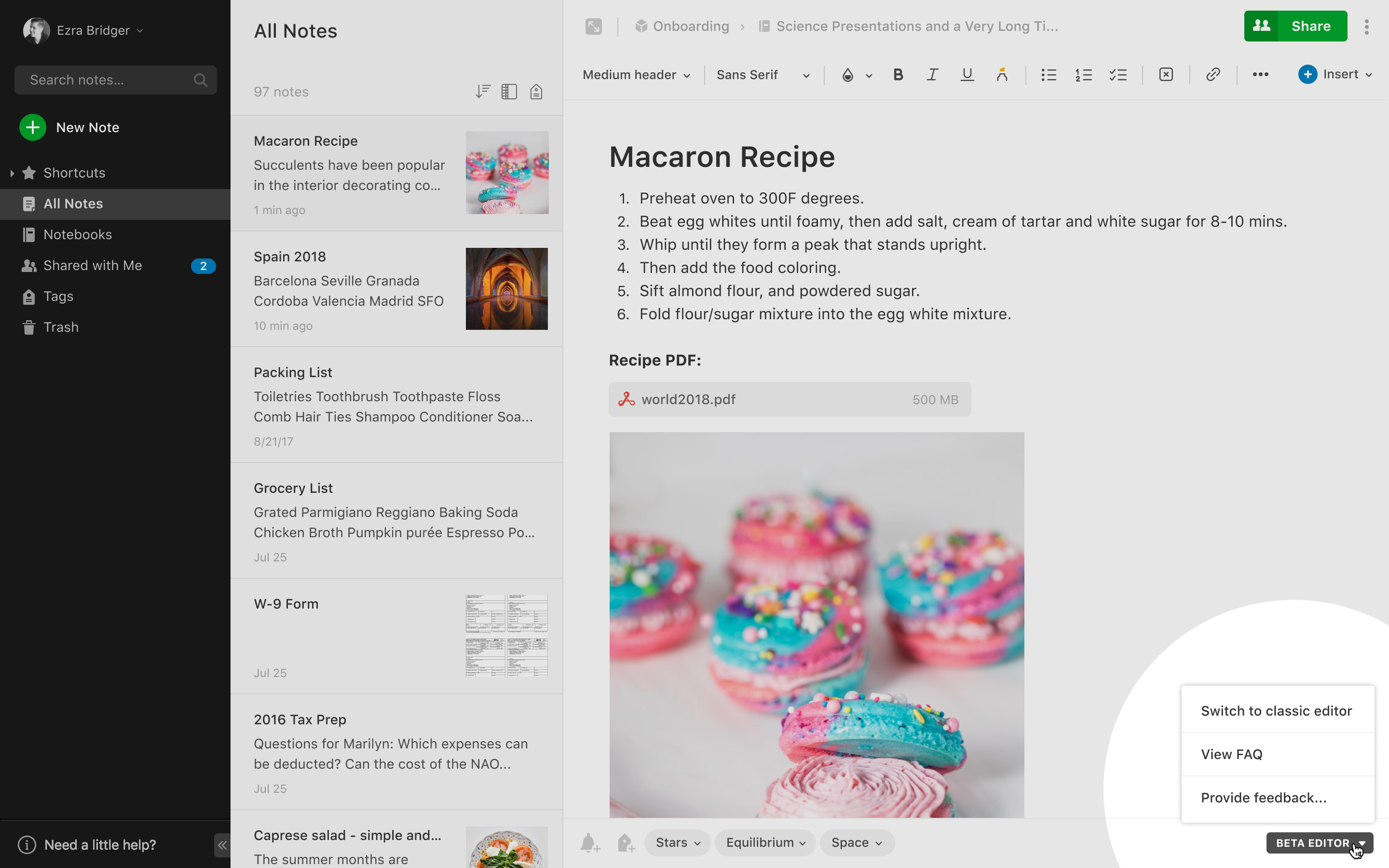 Best Writing Apps of 2020 Evernote Beta Overview