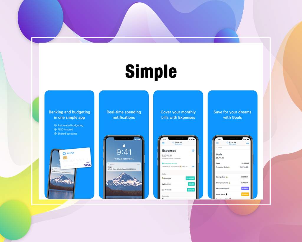 Simple personal budgeting app