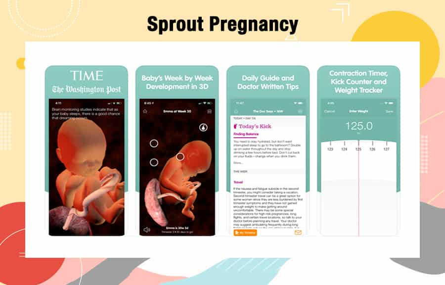 Sprout Pregnancy Tracker Apps 2020
