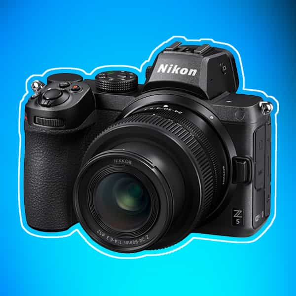 Nikon Z5 mirrorless camera smallest zoom lens