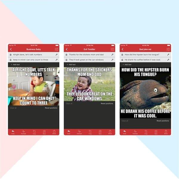 Generator apps for memes