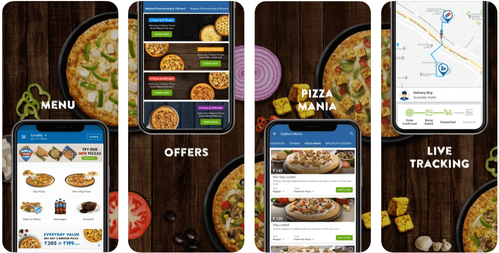 Top and Fast food delivery apps