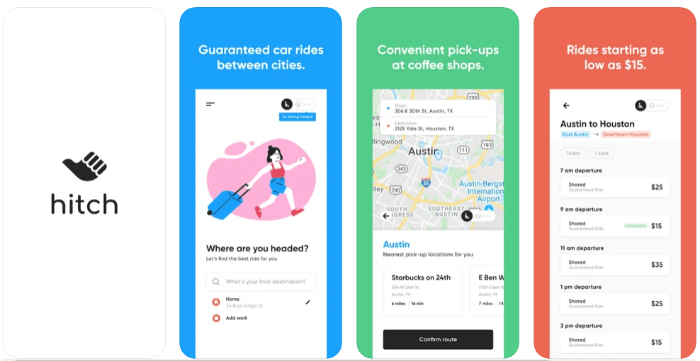 Flexible Commute Apps ridesharing apps