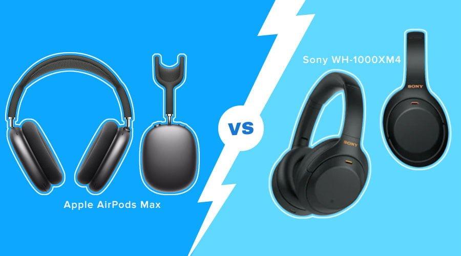 Sony XM4 headphones vs Airpods max