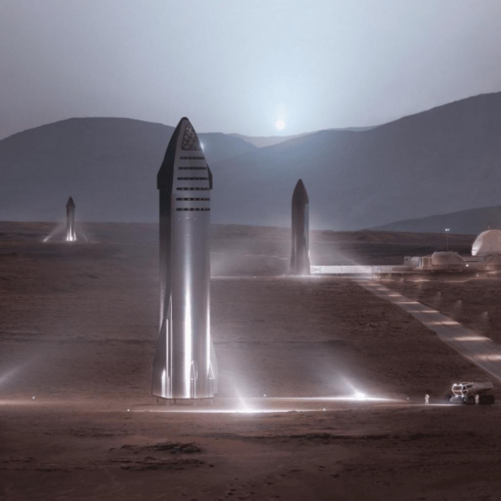 SpaceX Starship Rocket Prototype
